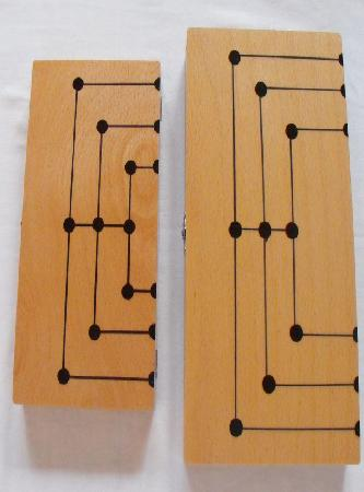S size Mill/Backgammon